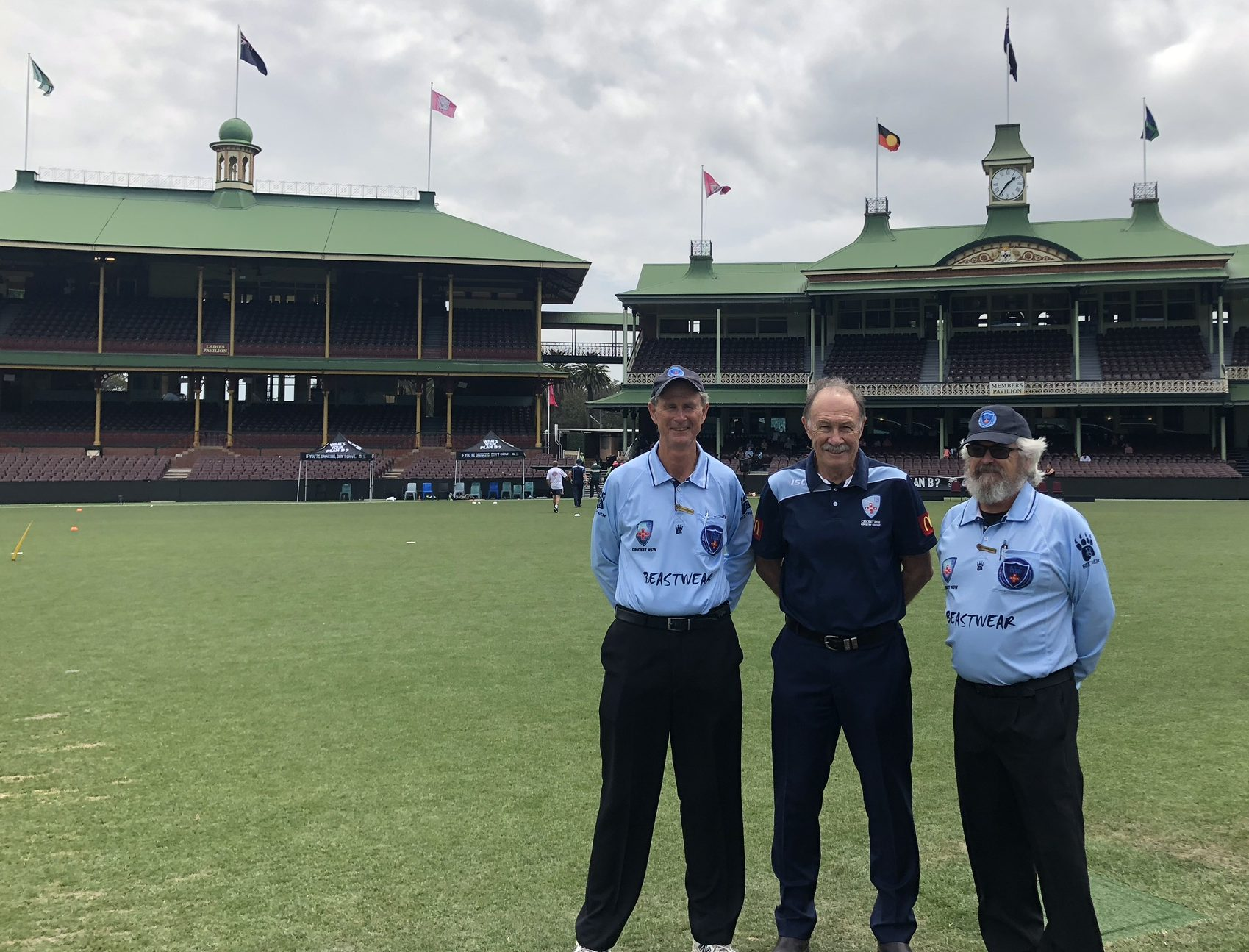 David Cullen, Neil Findlay and Ken Brooks at the SCG ahead of a Plan B Regional T20 Bash Semi-Final