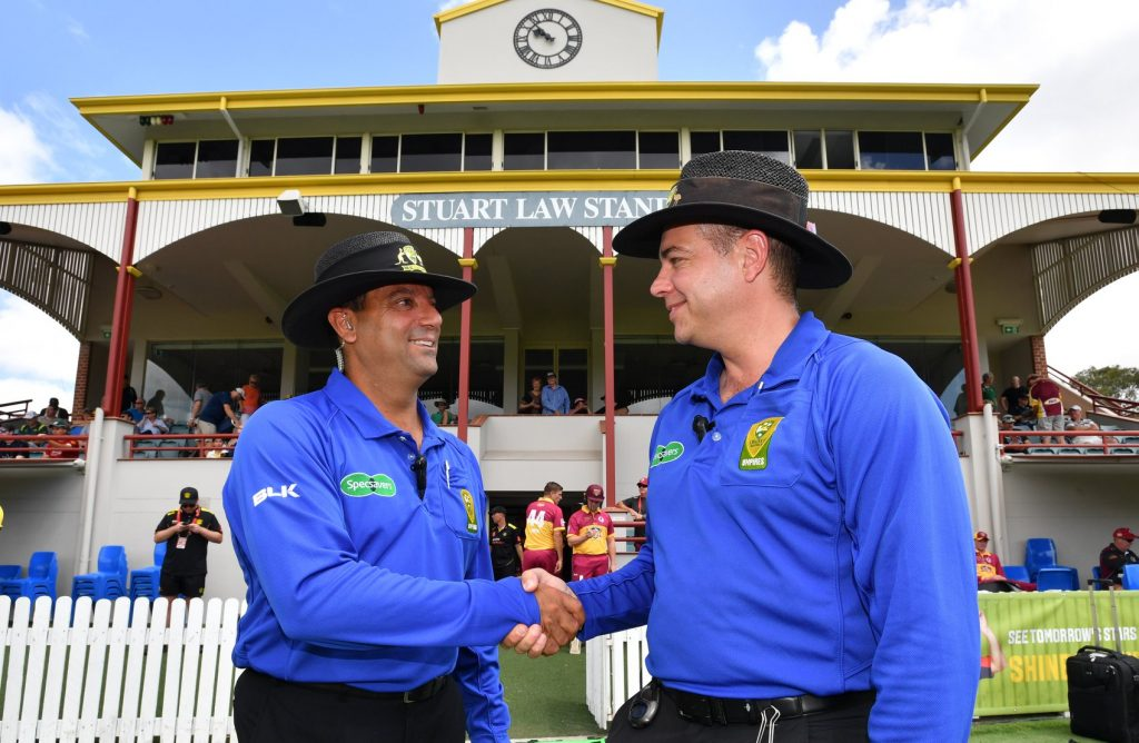 Gerard Abood with Shawn Craig ahead of the One-Day Cup Final